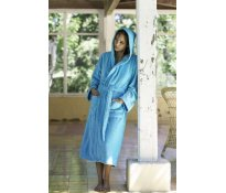 Kariban Velour Bathrobe Hooded B