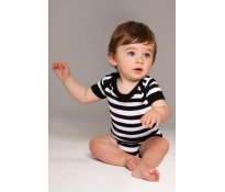 Baby Striped Short Sleeve Bodysu