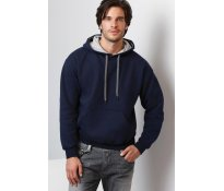 Heavy Contrast Hooded Sweat