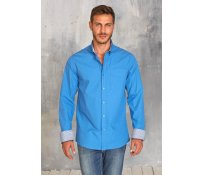 Kariban Mens long sleeve washed